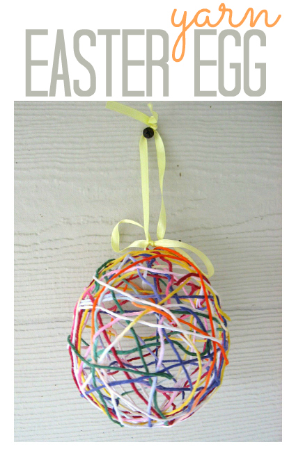 Easter Egg Yarn Craft For Kids No Time For Flash Cards