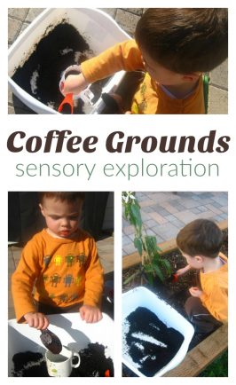 Coffee Grounds Sensory Tub