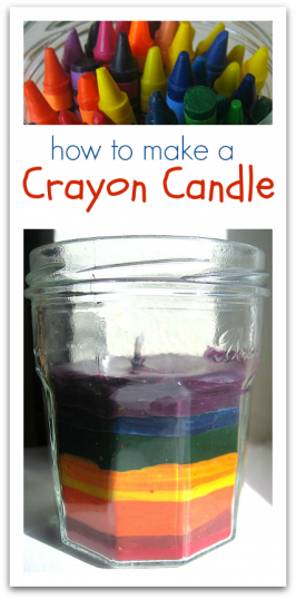candle made with crayons