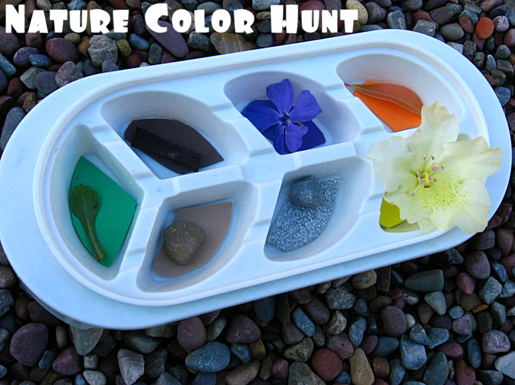 nature color hunt no time for flash cards
