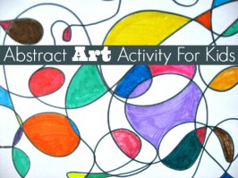 abstract art activity for kids