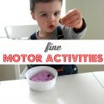 3 Easy Fine Motor Activities