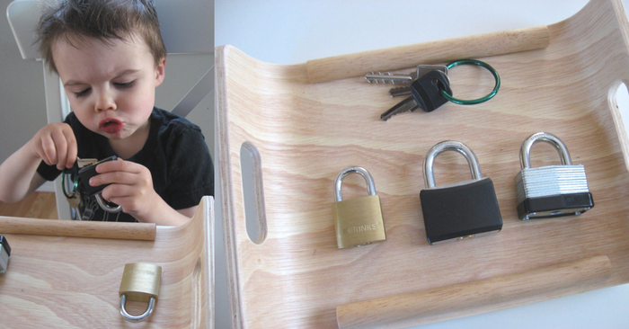 lock-and-key-tray-activity