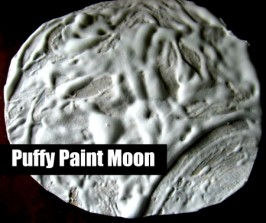 Puffy Paint Moon Craft