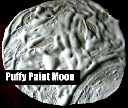 Puffy Paint Moon Craft No Time For Flash Cards