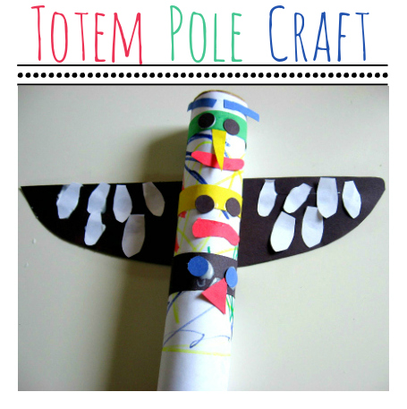 Totem Pole Craft No Time For Flash Cards