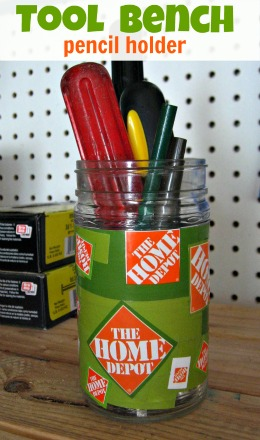 Tool Bench Pencil Holder