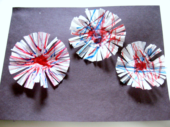 fireworks craft 4th of july art activity