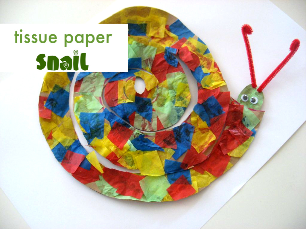 Snail Craft - No Time For Flash Cards
