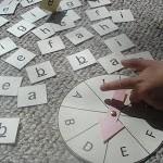 Alphabet Spin Game.