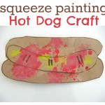 Squeeze Painting Hot Dog Craft