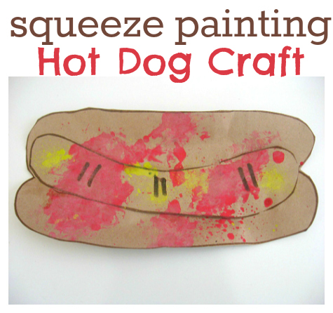 hot dog squeeze painting