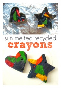 sun melted recycled crayons 1