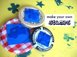 DIY Jar Lid Stamps