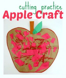 apple crafts for kids