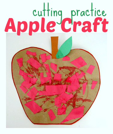 Apple Craft For Preschool No Time For Flash Cards