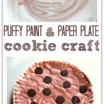 Paper Plate Cookie Craft  made with DIY Puffy Paint