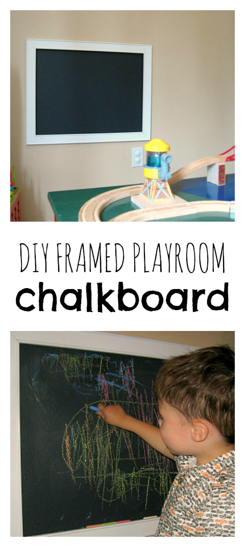 Framed Chalkboard DIY - No Time For Flash Cards