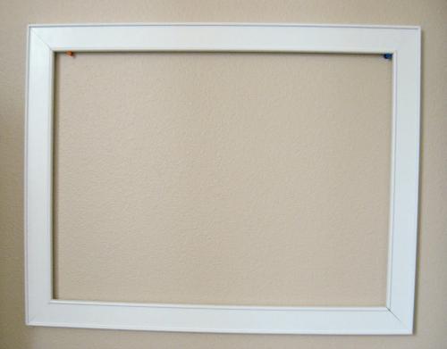 Framed Chalkboard DIY - No Time For Flash Cards