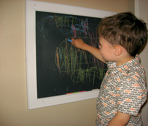 make your own chalkboard for a homeschool room