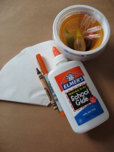 Elmers glue and materials