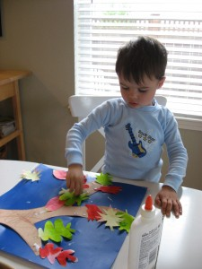 Fall Food Coloring Leaves Craft