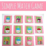 Cupcake Match Game For Kids