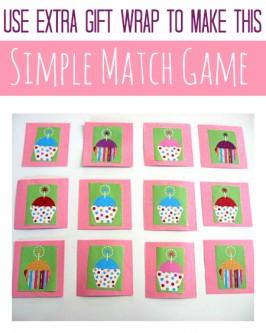 Cupcake Match Game For Kids