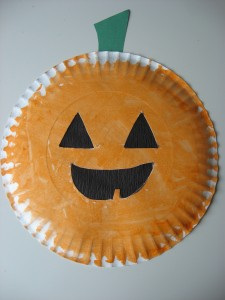 Paper Plate Jack O Lantern Amp Easy Halloween Craft And
