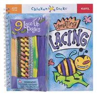 chicken socks amazing lacing book