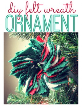 DIY Felt Wreath Ornament