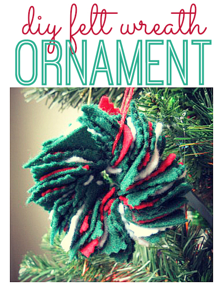 felt wreath ornament