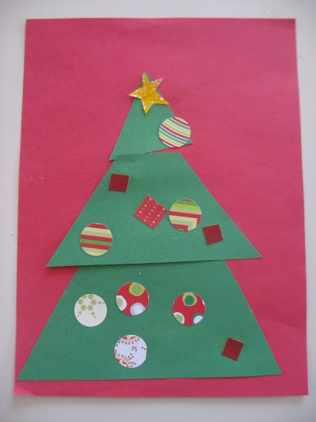 Christmas tree kids craft no time for flash cards for Christmas crafts for kindergarten students