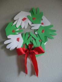 Holiday Handprint Wreath