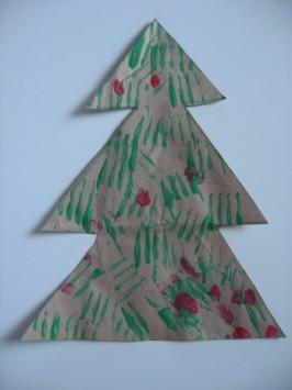 Fork Printed Christmas Tree Craft