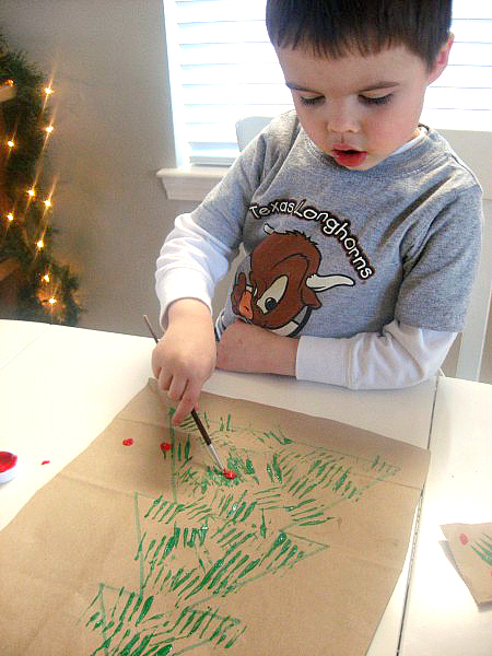 christmas tree art project for preschool