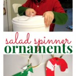 Salad Spinner Painting – Christmas Ornament Craft
