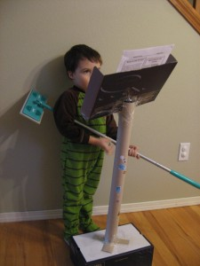DIY recycled music stand