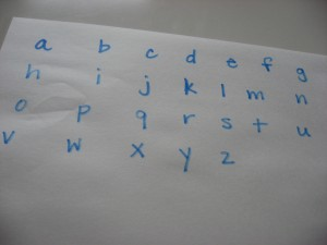 Alphabet Game Match