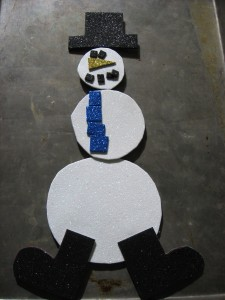 make a magnetic snowman