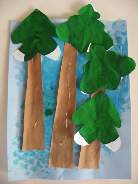 Inspired By Emily Carr Tree Craft No Time For Flash Cards