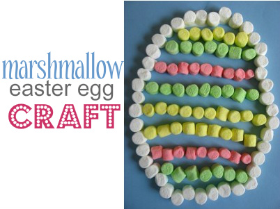 Marshmallow Easter egg craft, kids crafts, Easter crafts