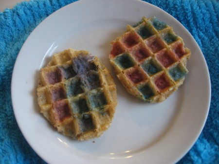 Painted Easter Waffles