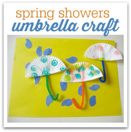 cupcake liner umbrella craft