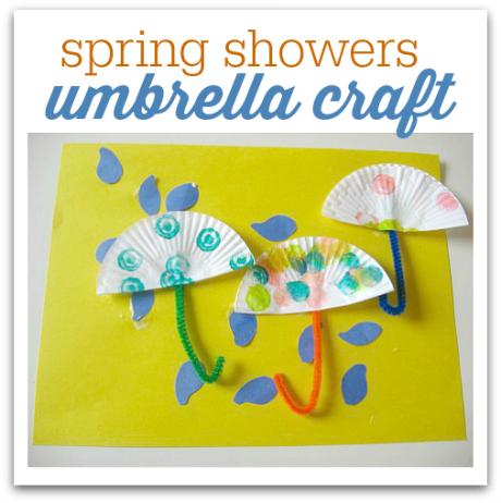 Rainy Day Craft on Umbrella Preschool Craft