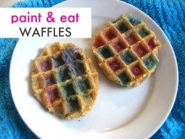 Paint and Eat Easter Waffles