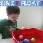 preschool science lesson sink or float