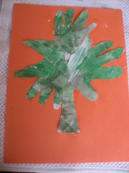 Handprint Shamrock Craft