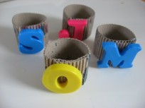 DIY Monogramed Napkin Rings