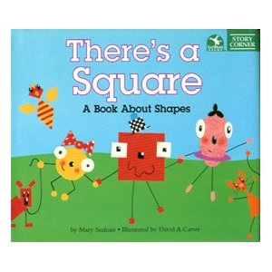 There is a square